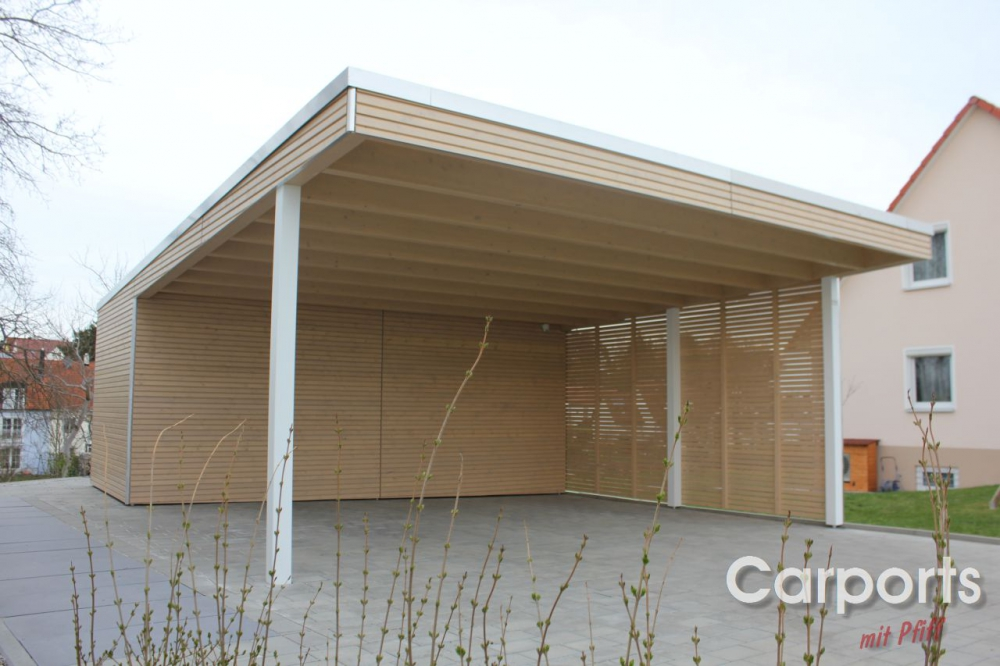Doppelcarport carport bauhaus mit abstellraum aus hpl trespa - Carport bauhaus ...