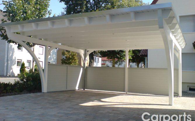 Carport Classic mit halbhoher Cono Wand