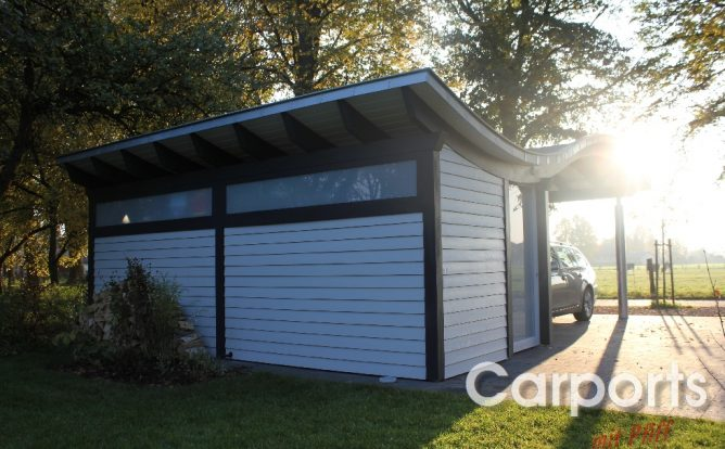 Carport Sinus mit Abstellraum