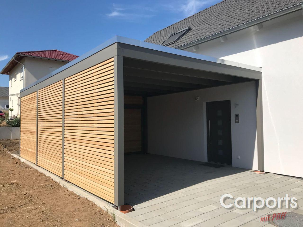 Carport Rhombo mit Rhomboid Leisten
