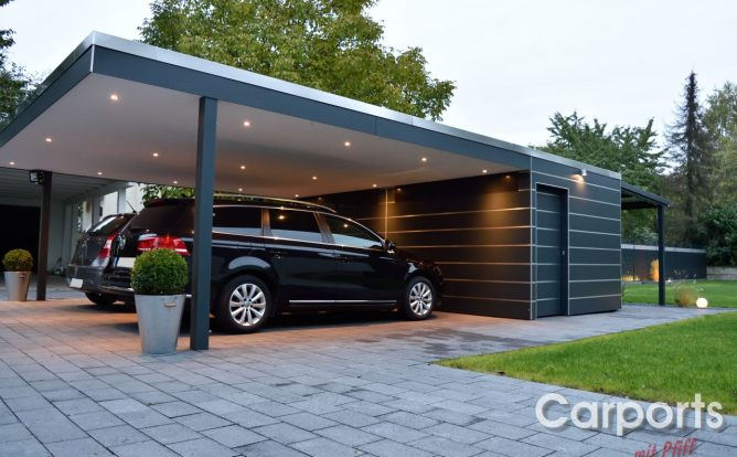garage mit carport excellent garage mit carport with. Black Bedroom Furniture Sets. Home Design Ideas