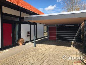 Carport Mattschwarz