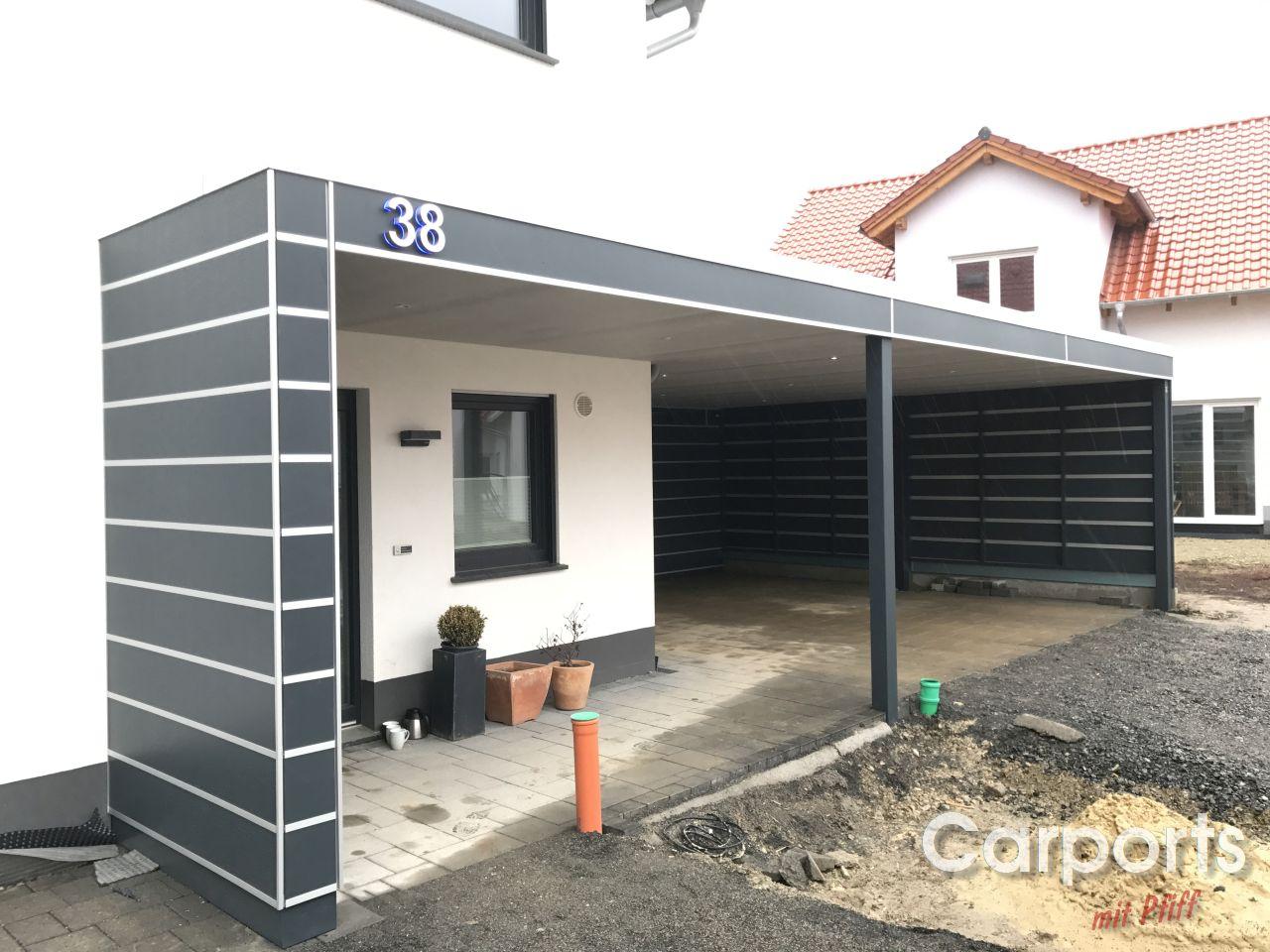 carport bauhaus hpl mit abstellraum und haust r berdachung carports mit pfiff. Black Bedroom Furniture Sets. Home Design Ideas