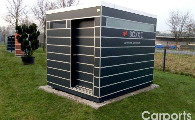 Boxx I der mobile Abstellraum mit Trespa verkleidet in Anthrazit