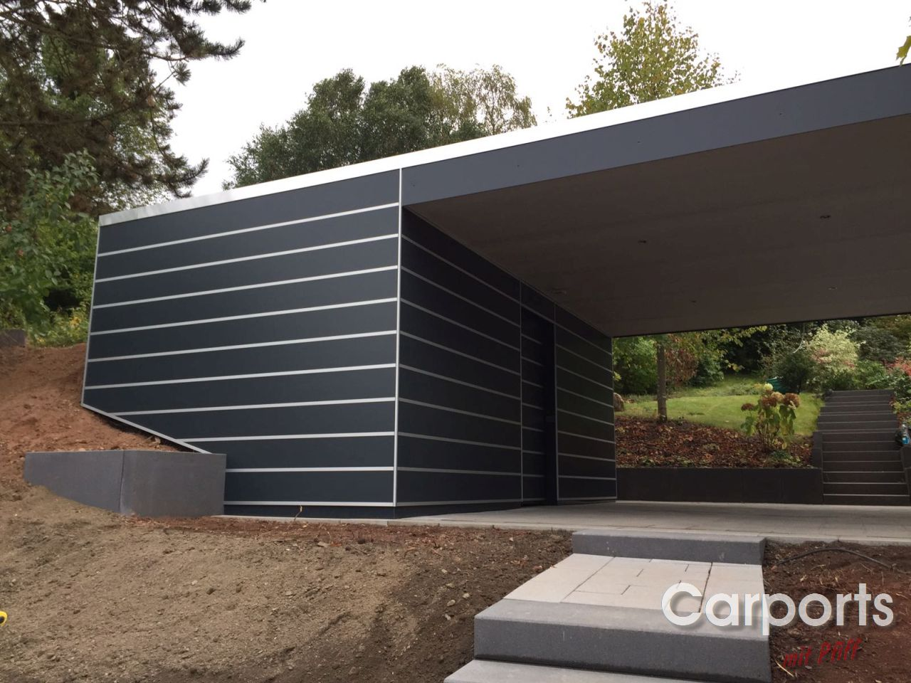 carport bauhaus trespa mit abstellraum carports mit pfiff. Black Bedroom Furniture Sets. Home Design Ideas