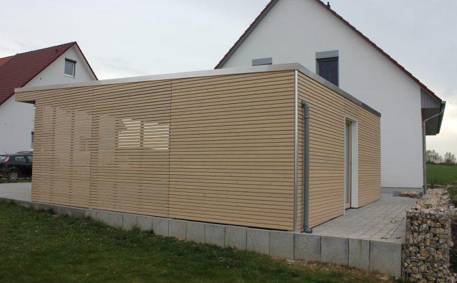 Carport Bauhaus Doppel Rhombo seitenwände mit Rhomboid auf Lücke