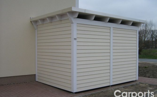 Abstellraum Gartenhaus Classic mit Dachüberstand und Conos