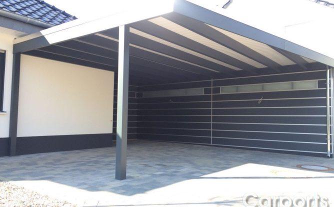 Carport mit Abstellraum Bauhaus HPL Trespa