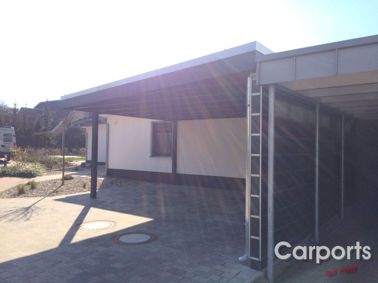 carport bauhaus hpl mit abstellraum und seitenwand carports mit pfiff. Black Bedroom Furniture Sets. Home Design Ideas