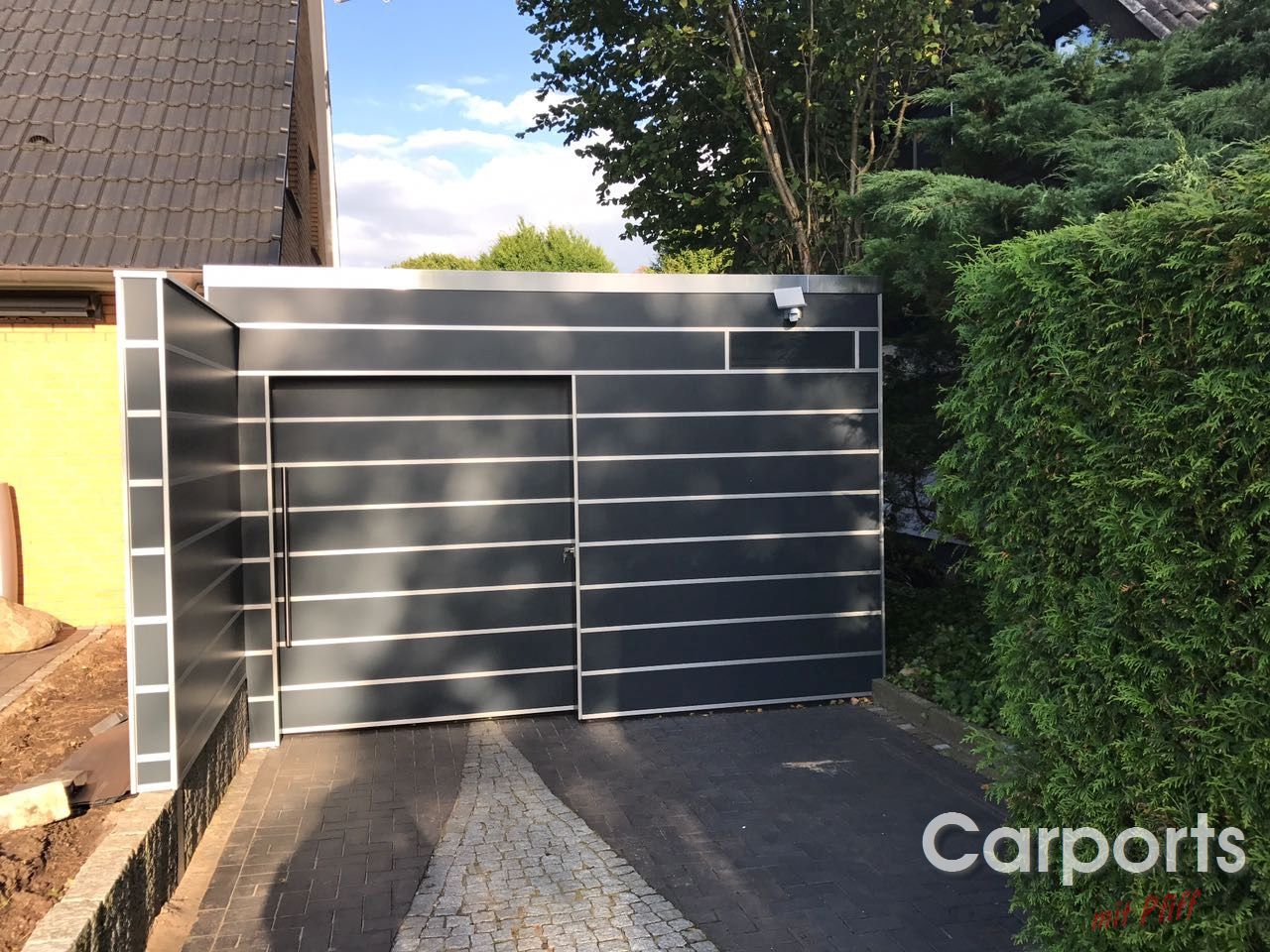carport hpl trespa in tangstedt carports mit pfiff. Black Bedroom Furniture Sets. Home Design Ideas