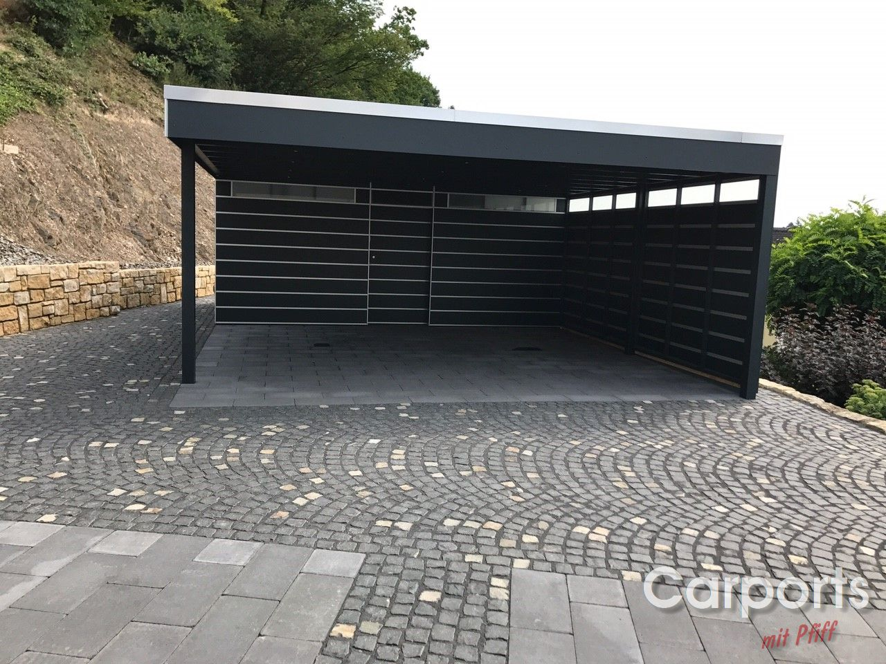 Carport bauhaus hpl mit abstellraum und verkleideter for Bauhaus carport