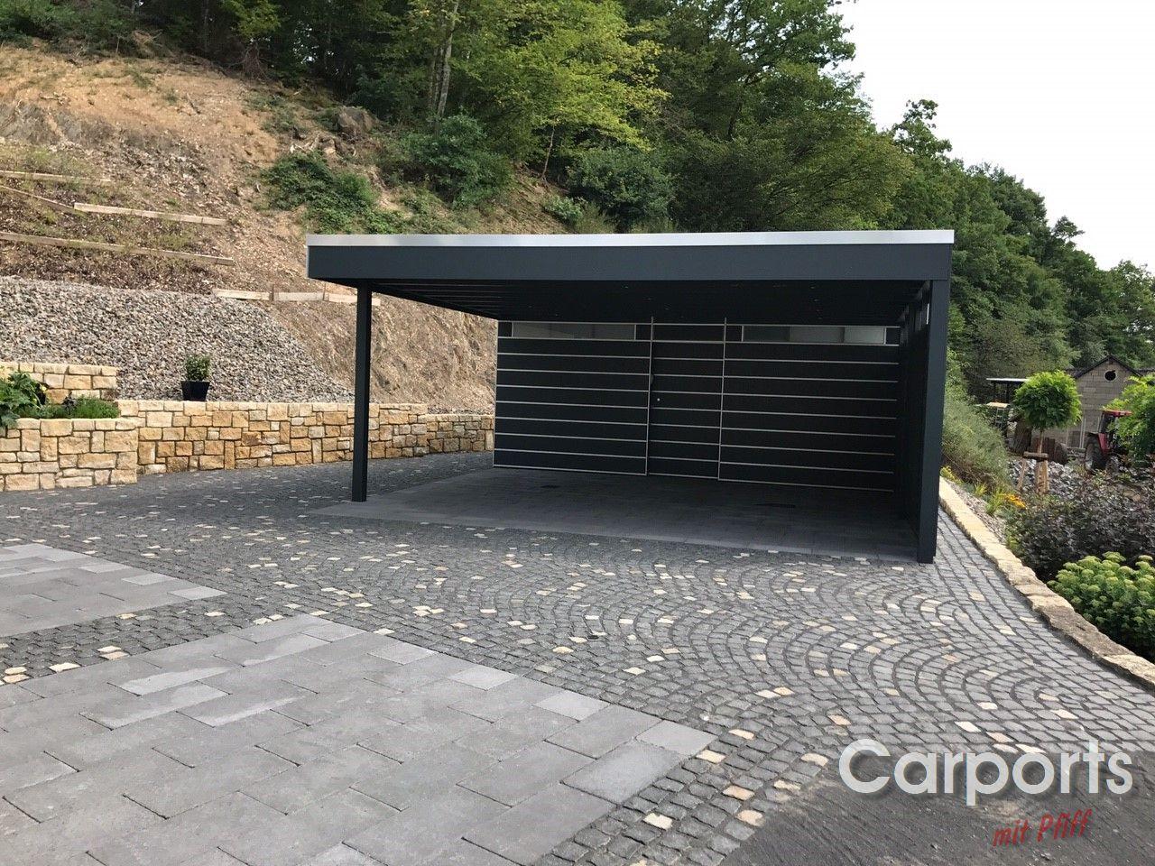 carport bauhaus hpl mit abstellraum und verkleideter seitenwand carports mit pfiff. Black Bedroom Furniture Sets. Home Design Ideas