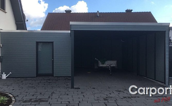 Carport Bauhaus Rhombo mit Abstellraum