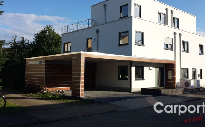 Carport HPL mit Abstellraum Fundermax