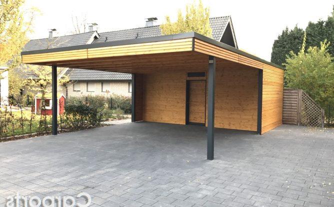 Bauhauscarport Rhombo mit Abstelraum