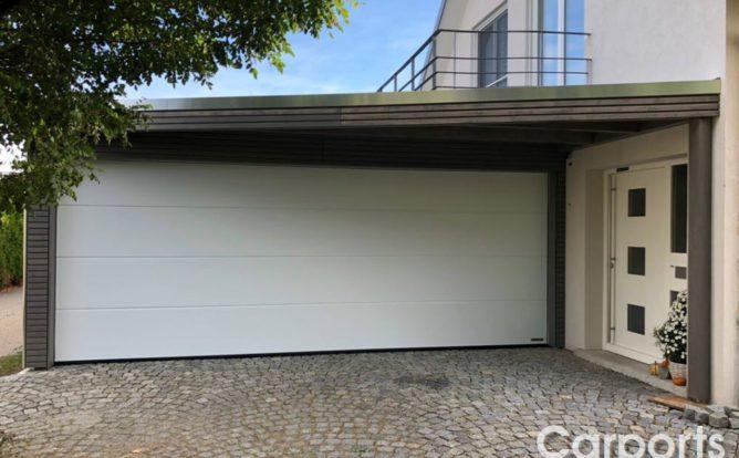 Carport Bauhaus mit Hörmann Sektionaltor